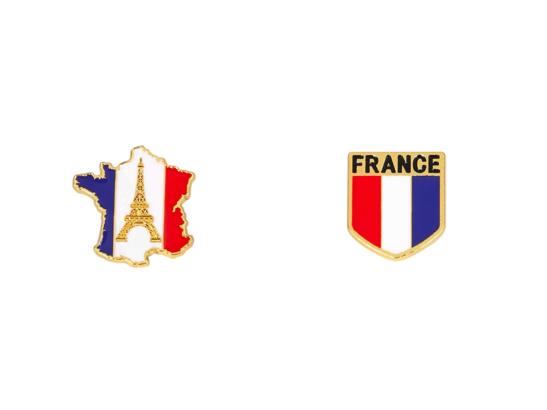 pin's drapeau francais blog